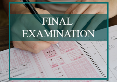 Final Examination Schedule | AY 2/2020 (Updated on 16/04/2021 : 100% Online)